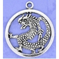 Dragon in Circle - Silver