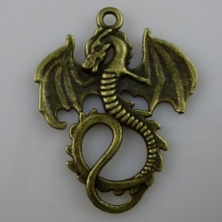 Dragon w/wings out - Brass