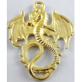 Dragon w/wings out - Gold