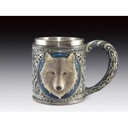 Grey Wolf Head Mug