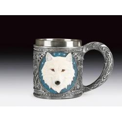 White Wolf Head Mug
