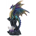 Purple Dragon with Crystals