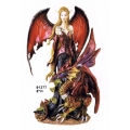 Fairy with Red Dragon Statue