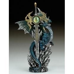 Blue Dragon and sword with dragon eye